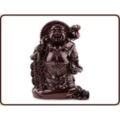 Ruben Robijn Boeddha op zak met schaal rood (1 stuks)