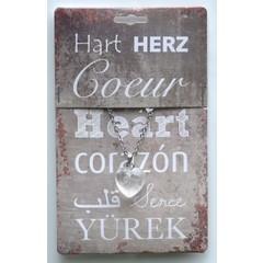 Steengoed Edelsteen hart & collier bergkristal (1 stuks)