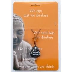Steengoed Boeddha hanger hematiet (1 stuks)