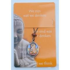 Steengoed Boeddha hanger zittend (1 stuks)