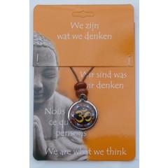 Steengoed Boeddha hanger ohm teken (1 stuks)