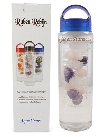 Ruben Robijn Ruben Robijn Aqua gems drinkfles liefde & harmonie (1 stuks)