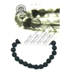 Steengoed Armband 8 mm obsidiaan/ onyx mat (1 stuks)