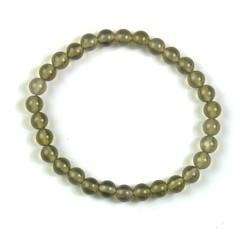Steengoed Armband 6 mm kraal agaat grijs (1 stuks)