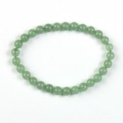 Steengoed Armband 6 mm kraal aventurijn groen (1 stuks)