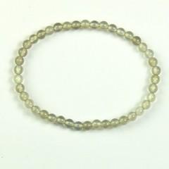 Steengoed Armband 4 mm kraal agaat grijs (1 stuks)