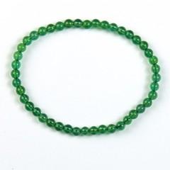 Steengoed Armband 4 mm kraal agaat groen gekleurd (1 stuks)