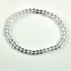Steengoed Armband 4 mm kraal bergkristal (1 stuks)