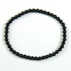 Steengoed Armband 4 mm kraal onyx (1 stuks)