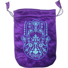 Green Tree Tarot tasje hand of fatima paars (1 stuks)