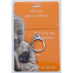 Steengoed Boeddha sleutelhanger fluoriet (1 stuks)