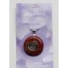 Steengoed Donuthanger jaspis rood (1 stuks)