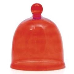 Terre Doc Autumn tea party kleine glazen stolp rood (200 gram)