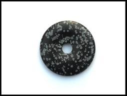 Ruben Robijn Ruben Robijn Donut 3 cm obsidiaan sneeuwvlok (1 stuks)