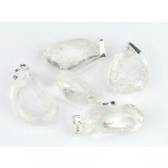 Steengoed Bergkristal hanger (5 stuks)
