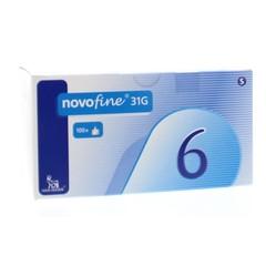 Novo Nordisk Novofine naald 0.25 x 6 mm 31G (100 stuks)