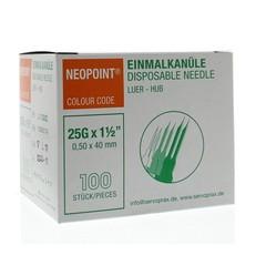 Neopoint Injectienaald steriel 0.5 x 40 (100 stuks)