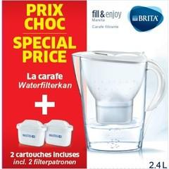 Brita Fill & Enj Marella cool wit & 2 Maxtra waterfilter (1 set)