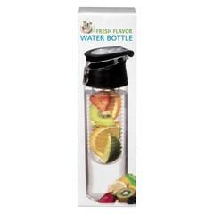 Fresh Flavor Water bottle zwart (700 ml)