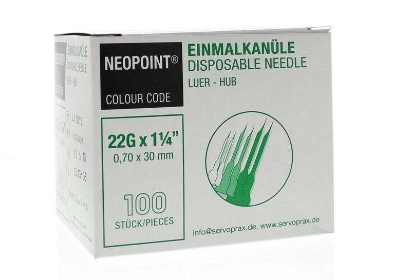Neopoint Neopoint Injectienaald steriel 0.7 x 30 (100 stuks)