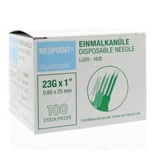 Neopoint Injectienaald steriel 0.6 x 25 (100 stuks)