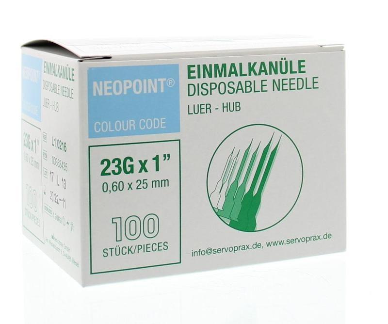 Neopoint Neopoint Injectienaald steriel 0.6 x 25 (100 stuks)