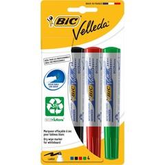BIC Velleda whiteboard marker assorti (4 stuks)