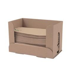 Vegware Ongebleekte servetten 33 cm + gratis dispenser (6000 stuks)