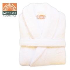 Mattisson Badjas white biokatoen maat XL (1 stuks)
