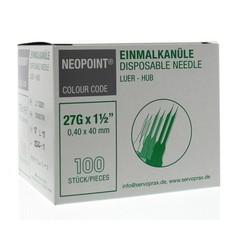 Neopoint Injectienaald steriel 0.4 x 40 mm (100 stuks)