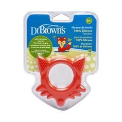 Dr Brown's Bijtring flexees vos rood (1 stuks)