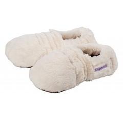 Warmies Slippies maat 4-7 (36-40) creme plush (1 paar)