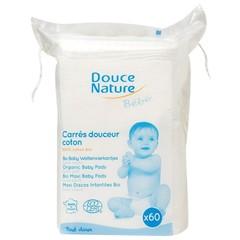 Douce Nature Baby wattenvierkantjes bio (60 stuks)