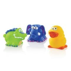 Nuby Spuitende badspeeltjes: krokodil, olifant en eend (1 set)