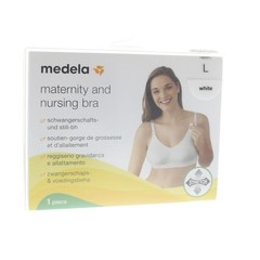 Medela Voedingsbeha maat L wit (1 stuks)