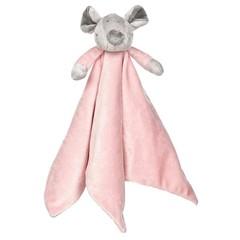 Teddykompaniet Floppy knuffeldoek rozekleur (1 stuks)