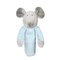 Teddykompaniet Floppy rammelaar blauwkleur (1 stuks)