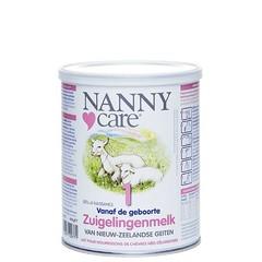 Nannycare Zuigelingenmelk van geiten 1 (400 gram)