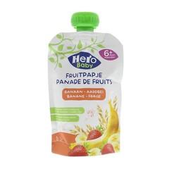 Hero Baby fruitpap granen/banaan/aardbei 6M+ (120 gram)