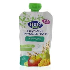 Hero Baby fruitpap granen/multi fruit 6M+ (120 gram)