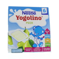Nestle Yogolino peer 6 mnd 100 gram (4 stuks)