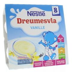 Nestle Dreumesvla vanille 8 maanden 100 gram (4 stuks)