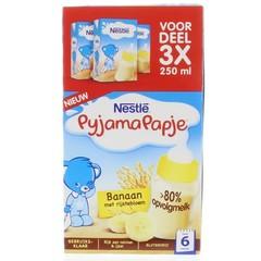 Nestle Pyjamapapje banaan 250 ml (3 stuks)