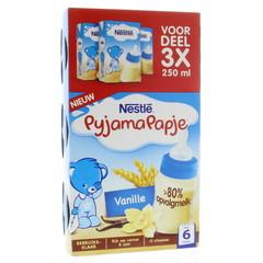 Nestle Pyjamapapje vanille 250 gram (3 stuks)