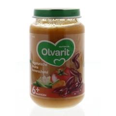 Olvarit Vegetarische bruinen bonenschotel 6M02 (200 gram)