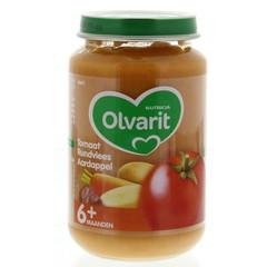 Olvarit Tomaat rundvlees aardappel 6M11 (200 gram)