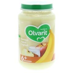 Olvarit Banaan appel yoghurt 6M50 (200 gram)