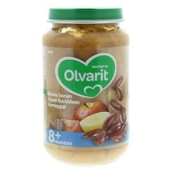 Olvarit Bruine bonen appel rundvlees aardappel 8M00 (200 gram)