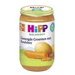 Hipp Gemengde groenten met rundvlees (250 gram)