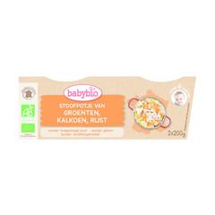 Babybio Groenten kalkoen rijst 8 maanden 200 g (2 stuks)